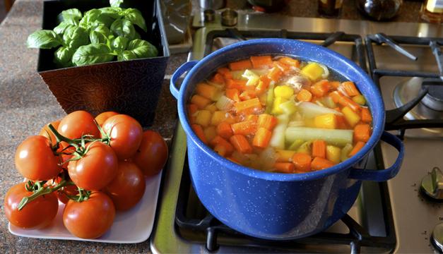 sopa verduras cocidas agua dieta
