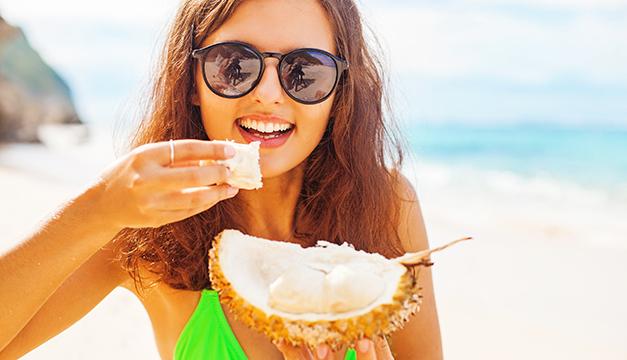 nutricion vacaciones mujer coco