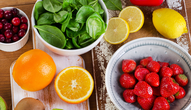 Frutas y verduras que son fuente de vitamina C